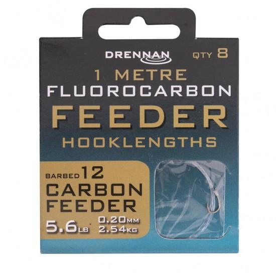 Drennan - Carlige Legate Fluoro Carbon Feeder Nr. 12