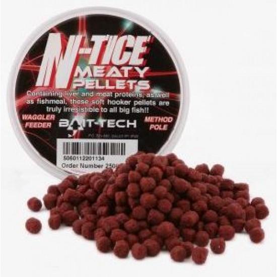 Bait-Tech N-tice Meaty Hooker Pellets  125ml