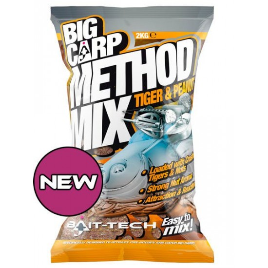 Bait-Tech Method Mix Tiger & Peanuts 2kg