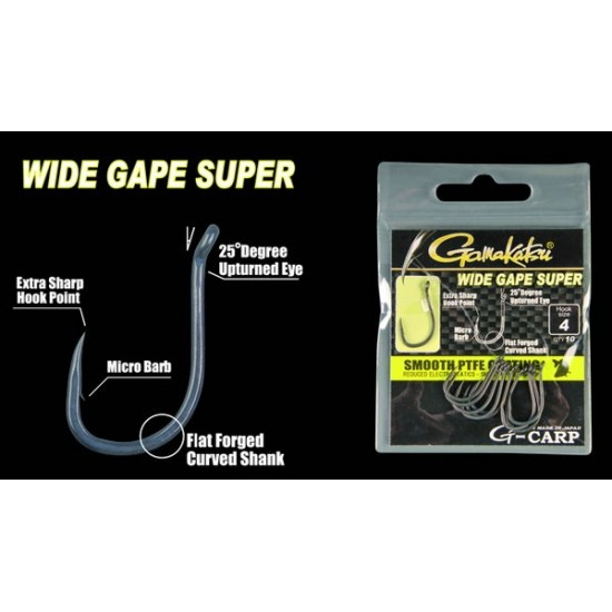 Carlig Gamakatsu Wide Gape Super Nr.10