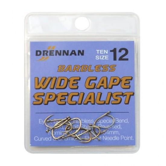 Carlig Drennan Wide Gape Specialist Barbless Nr.18