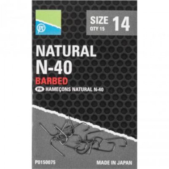Carlige Preston Natural N-40 Nr.18