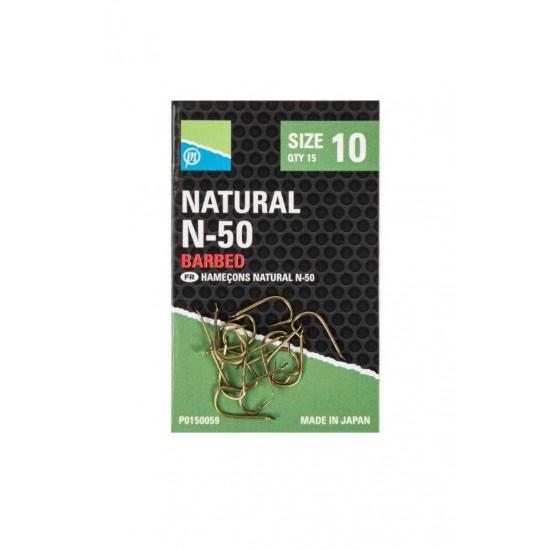 Carlige Preston Natural N-50 Nr.10