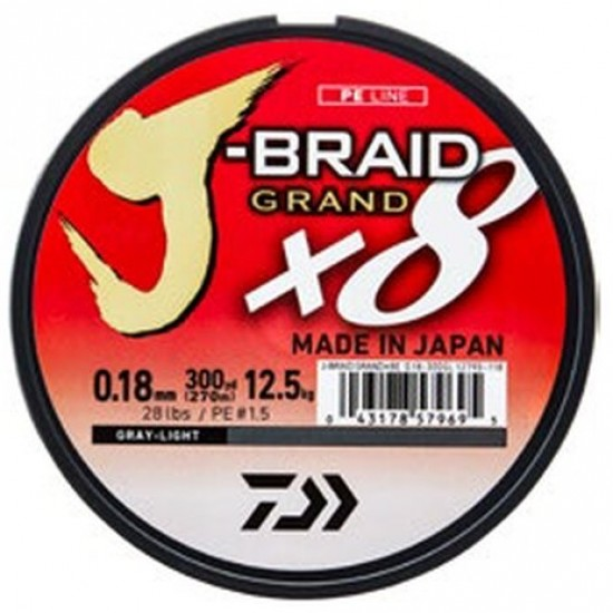 Daiwa Grand J-Braid Gray Fir textil 8Braid 0.16mm / 135m