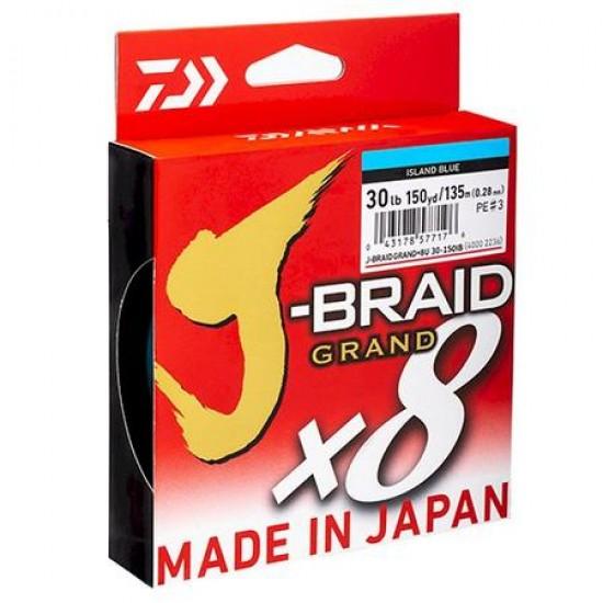 Daiwa Grand J-Braid  Blue Fir textil 8Braid 0.13mm / 135m