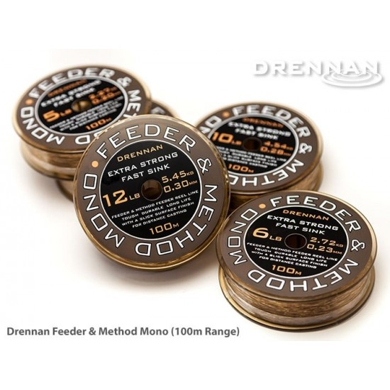 Drennan Feeder and Method Mono 100m - Fir Monofilament Scufundator 0.234mm
