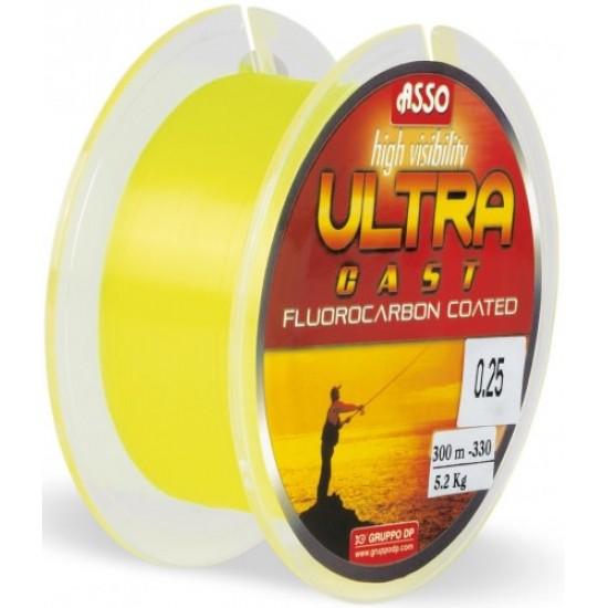 Asso Ultracast Galben Fluo 0.24mm / 150m