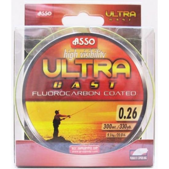 Asso Ultracast Verde Fluo 0.22mm / 150m