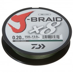 Daiwa J-Braid Fir textil 8Braid Dark Green 0.13mm / 150m