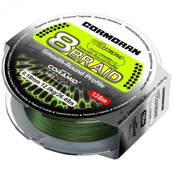 Cormoran CoraStrong Fir textil 8X  Verde 0.14mm / 300m