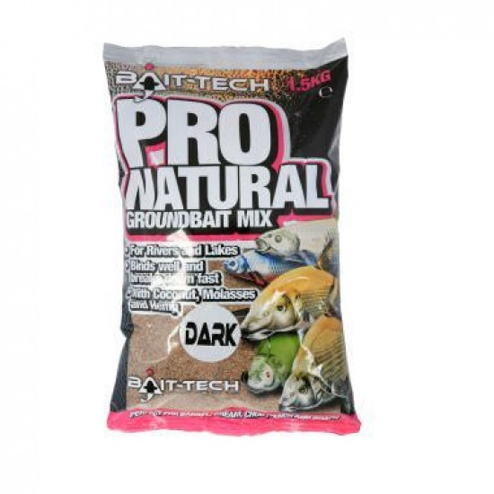 Bait-Tech Pro-Natural Dark Groundbait 1.5kg