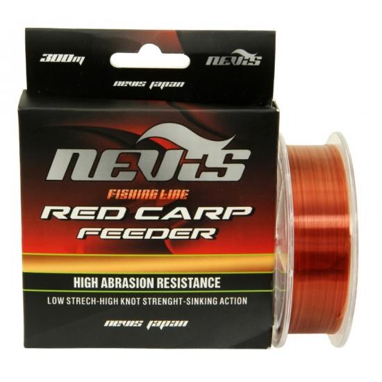 Nevis - Fir Monofilament Red Carp Feeder 0.20mm 300m