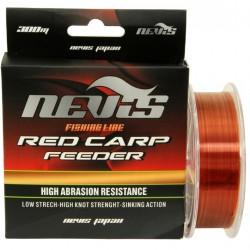 Nevis - Fir Monofilament Red Carp Feeder 0.22mm 300m