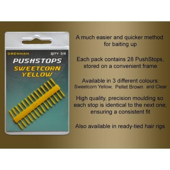 Stopper - Drennan Pushstops : Clear