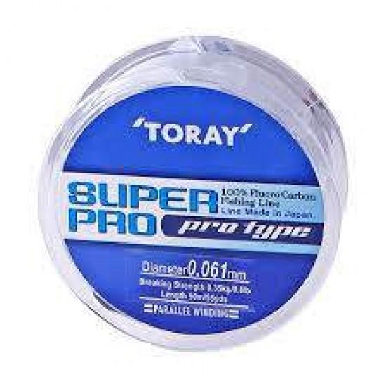 Fir Fluorocarbon TORAY SUPER PRO   0.085 mm