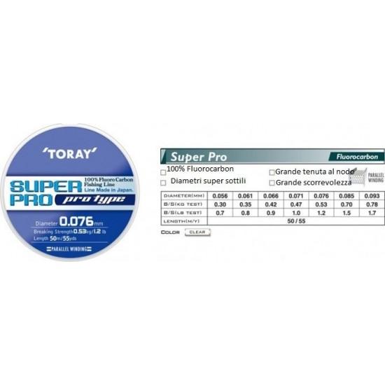 Fir Fluorocarbon TORAY SUPER PRO   0.056 mm