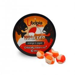 Utopia Baits Colour Blend Orange&Squid Wafter 10mm